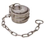 BOUCHON SYMETRIQUE INOX A VERROU AVEC CHAINETTE - REF 2427