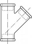 RACCORD EN FONTE MALLEABLE TE EGAL FFF OBLIQUE 45°- REF 165N