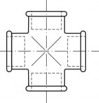 RACCORD EN FONTE MALLEABLE CROIX REDUITE FFFF - REF180R