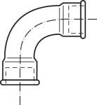RACCORD EN FONTE MALLEABLE COURBE FF - COURTE 90°- REF 2A