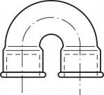RACCORD EN FONTE MALLEABLE COURBE FF DOUBLE 180° - REF 60N
