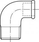 RACCORD EN FONTE MALLEABLE COUDE REDUIT MF PETIT RAYON 90° - REF 92R