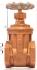 VANNE A DOUBLE OPERCULE BRONZE TARAUDE BSP PN20 - REF 90